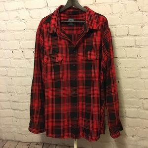Men's Oversized Flannel Shirt